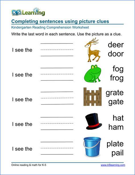 handwriting worksheets  kindergarten