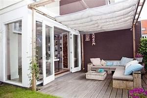stoff decke ideen fur terrassenuberdachung aus holz With terrassenüberdachung aus stoff