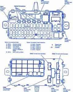 Honda Del Sol 1993 Fuse Box  Block Circuit Breaker Diagram