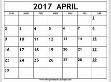 April calendar 2017 2019 2018 Calendar Printable with