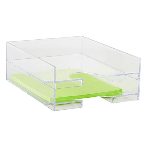 stacking letter tray the container store