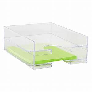 clear stackable letter tray the container store With clear stackable letter trays