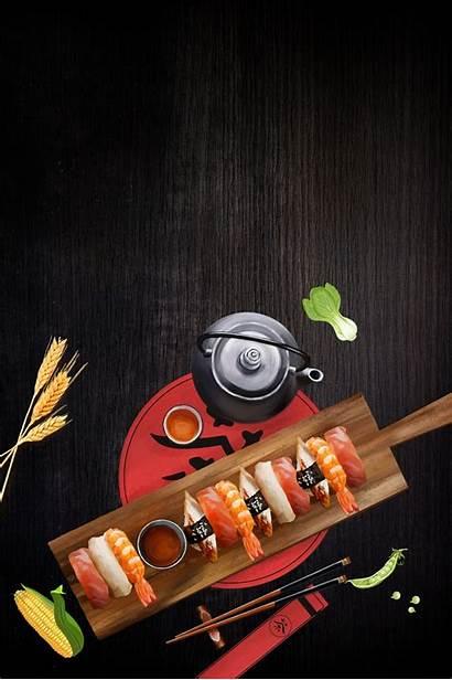Sushi Psd Japanese Background Atmosphere Layered Cuisine