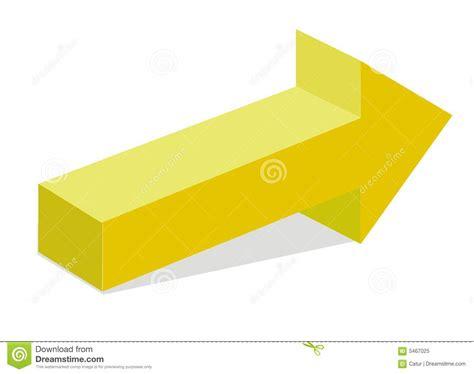 Yellow 3d Arrow Royalty Free Stock Photo