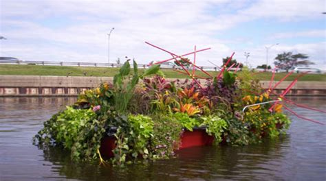 Floating Boat Garden Design by Inhabitat Green Design Innovation Architecture Green