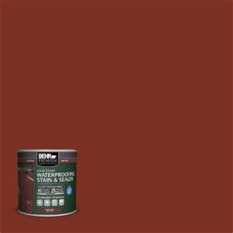 behr premium 8 oz sc330 redwood solid color waterproofing stain and sealer sle 501316 the