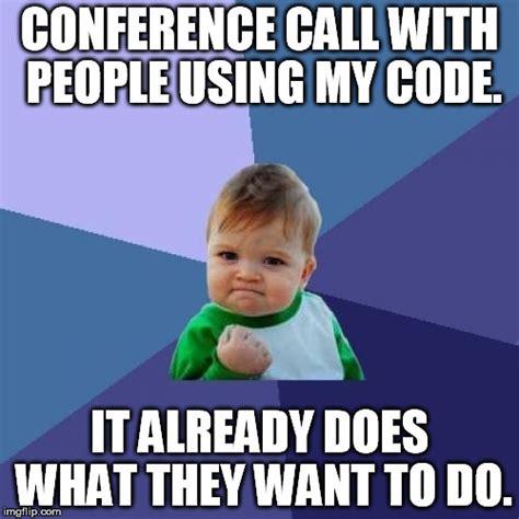 Conference Call Meme - success kid meme imgflip