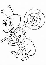 Ant Coloring Kolorowanki Lizaki Ants Lollipop Dzieci Dla Colorir Formiga Books Pobrania Lovesmag sketch template