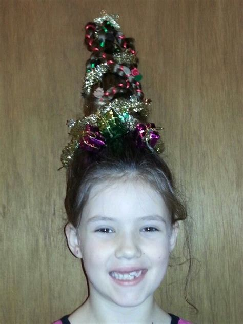 christmas tree hair hair pinterest