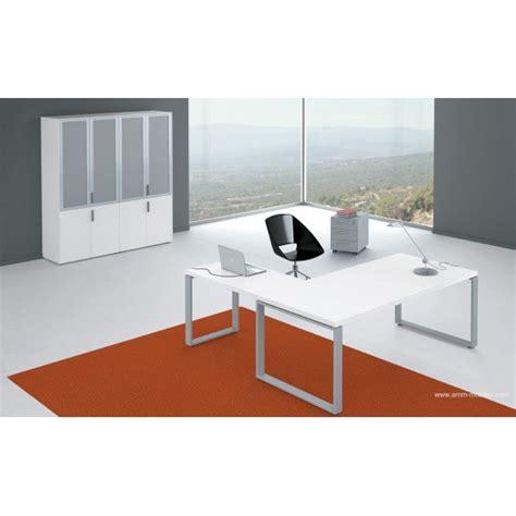 fabricant canape italien bureau de direction archimède finition mélaminé blanc par alea