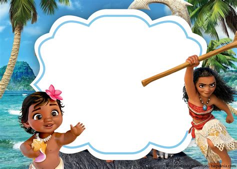 baby moana  photo baby shower invitation template