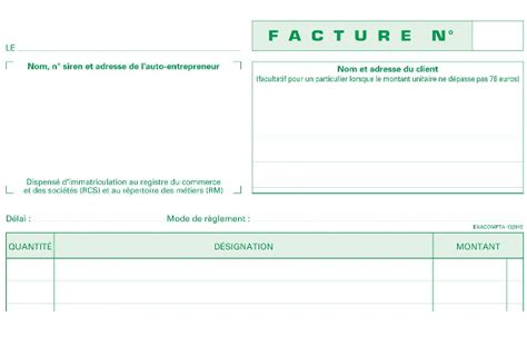 Pcr13291ex Manifolds De 50 Factures Autoentrepreneur