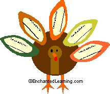 thanksgiving crafts enchantedlearning