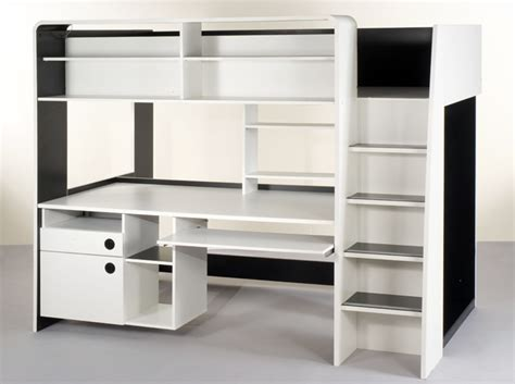 lit mezzanine 1 place bureau integre tendance le lit mezzanine décoration