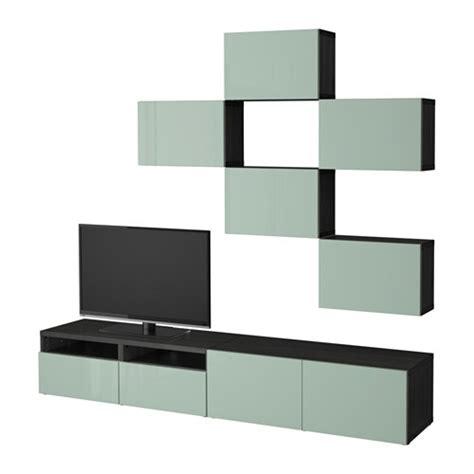 besta price best 197 tv meubel combi zwartbruin selsviken hoogglans