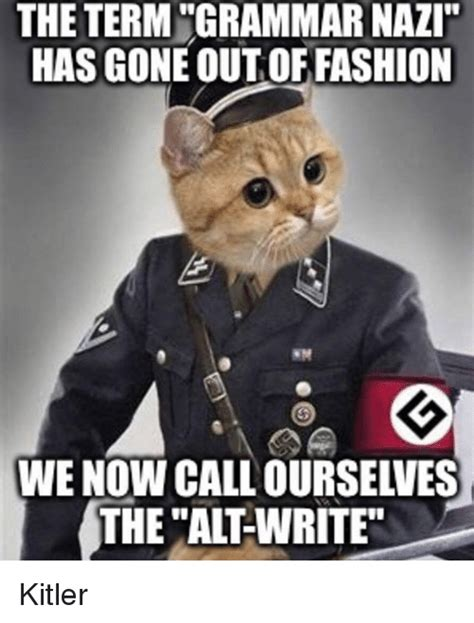 Nazi Meme - grammar nazi cat meme www imgkid com the image kid has it