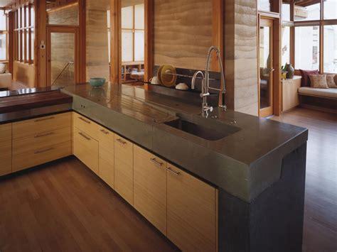 Concrete Kitchen Countertop  Hgtv. Kitchen Sink With Legs. Clogged Kitchen Sink With Sitting Water. Kitchen Sink Dish Drainers. Filtered Water Tap Kitchen Sink