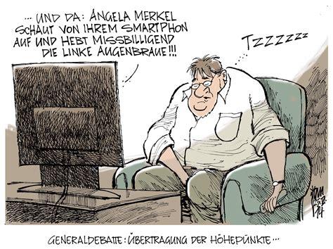 aktuelle karikaturen generaldebatte im bundestag