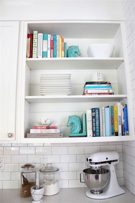 Decorating Bookshelves Without Books by Cookbook Addiction Shelf Styling The Inspired Room