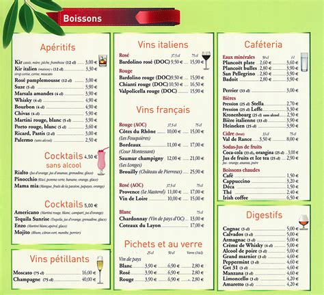 olivier cuisine restaurant pizzéria à guing carte et menus