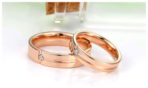 Rose Gold Tungsten Wedding Bands For Women And Men