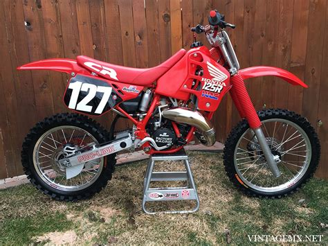 honda cr 125 1989 honda cr125r showcase bike vintagemx net