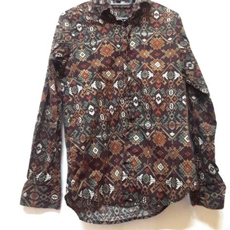 baju kemeja batik sarawak saiz s fesyen lelaki pakaian di carousell