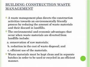 Reuse of cd waste for Waste management plans template
