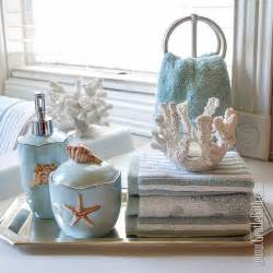 seafoam serenity coastal themed bath decor idea beach