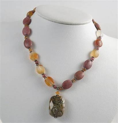 Handmade Jewelry Necklace Rhodonite Bracelet Carnelian Gemstone