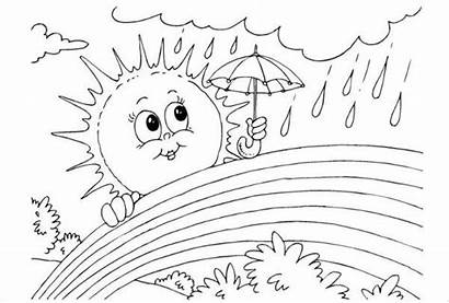 Rainbow Coloring Pages Template Colouring Rainbows Printable