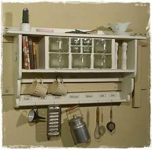 Wandregal Küche Vintage : wandregal k chenregal gew rzregal shabby style von ansolece auf aus der ~ Sanjose-hotels-ca.com Haus und Dekorationen