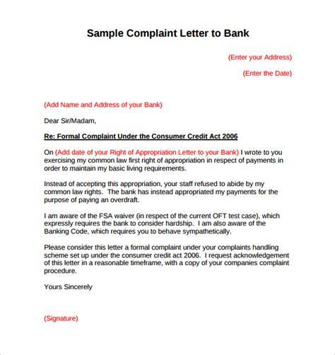 complaint letter format  english complaint letter