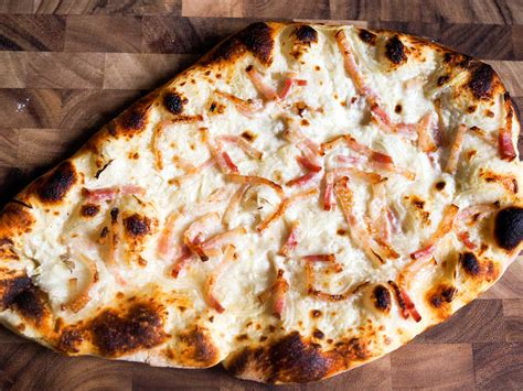 alsace cuisine recipes the of tarte flambée alsatian pizza with fromage
