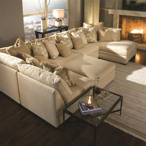 brown sectional with ottoman light brown u shaped sectional sofa bed with ottoman and