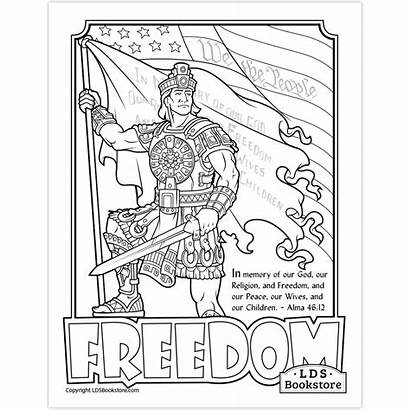 Coloring Title Liberty Freedom Printable Ldsbookstore Lds