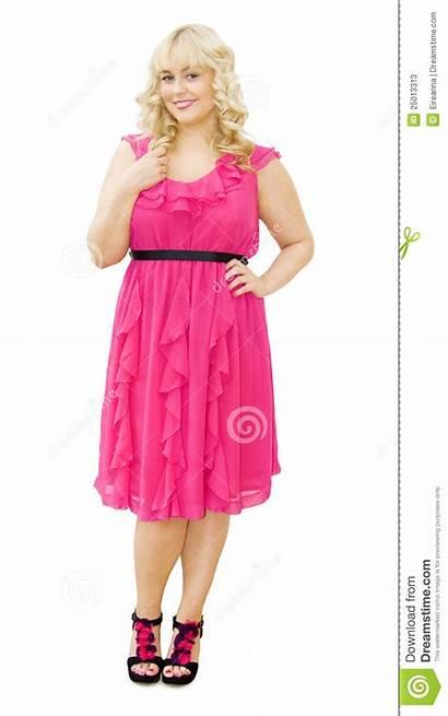 Woman Kleding Roze Partij Vrouw Mooie Blonde