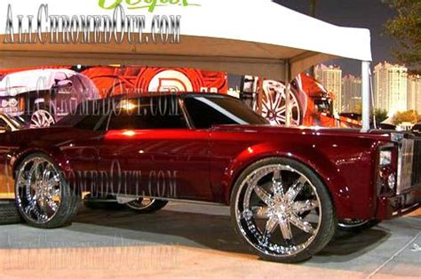 Cars With Chrome Rims : Custom Chrome Rims On Pimped Out Donk Cars, Chevy Bubbles