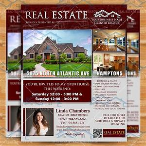 Get this open house template today realtor for Real estate advertisement template