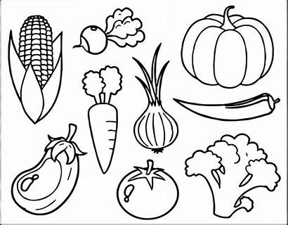 Coloring Vegetable Pages Printable