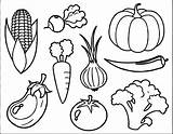 Vegetable Coloring Pages Printable sketch template