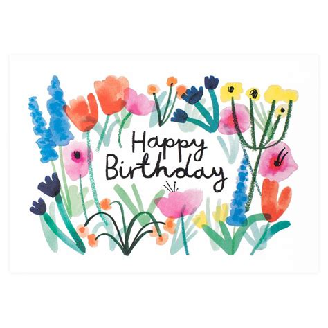 wrap happy birthday floral card greer chicago