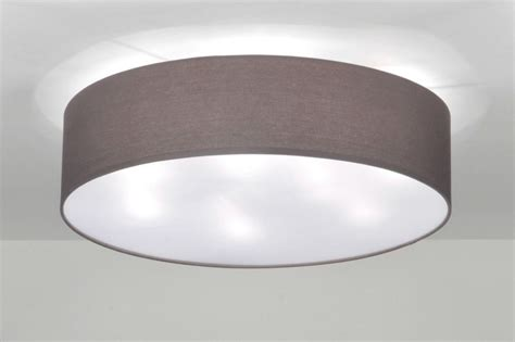 Deckenle Kuche Modern by Deckenleuchte 71392 Modern Metall Stoff Grau Rund Wohnen