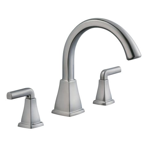 Brushed Nickel Tub Faucet by Glacier Bay Brookglen 2 Handle Deck Mount Tub Faucet