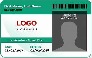 employee card template word the best letter sample With photo id badges templates