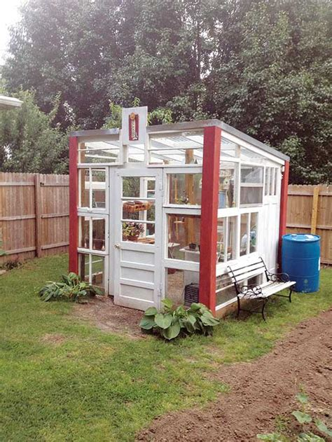I finally made my little window greenhouse. Build a Greenhouse from Old Recycled Windows - DIY ...