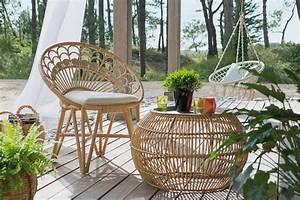 Salon De Jardin Rotin Naturel : un salon de jardin en rotin pour une ambiance tr s nature ~ Melissatoandfro.com Idées de Décoration
