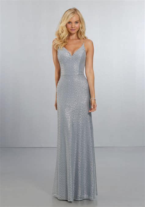 fitted caviar mesh bridesmaids dress   neckline