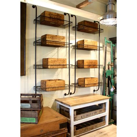 glass storage andy thornton wire mesh wall unit vintage shelving andy thornton ltd
