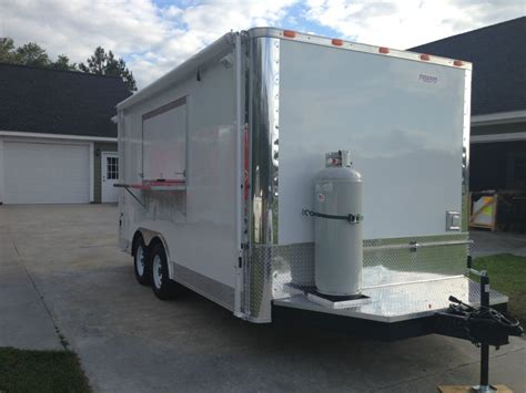8 5x16 concession food trailer w grease hood gas and